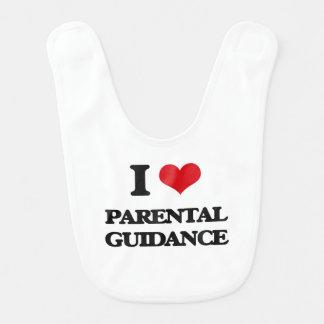 Amo orientación para padres babero