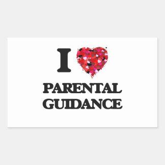 Amo orientación para padres pegatina rectangular