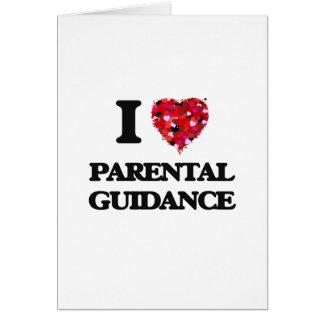 Amo orientación para padres tarjeta de felicitación