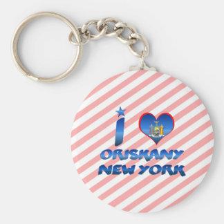 Amo Oriskany, Nueva York Llavero Personalizado