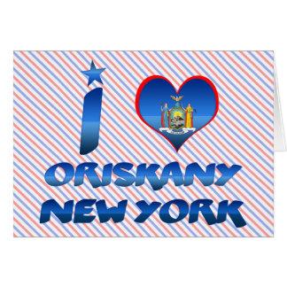 Amo Oriskany, Nueva York Felicitaciones