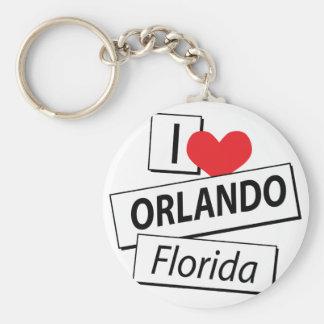 Amo Orlando la Florida Llavero Redondo Tipo Pin