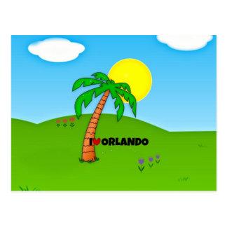 Amo Orlando, la palmera y la sol Postales