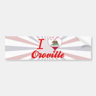Amo Oroville, California Pegatina De Parachoque