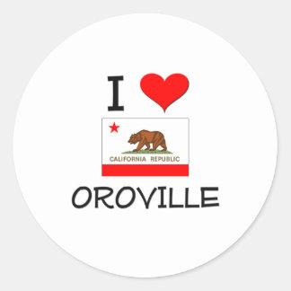 Amo OROVILLE California Pegatina Redonda