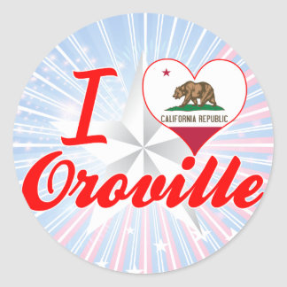 Amo Oroville, California Pegatina Redonda