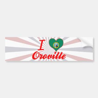 Amo Oroville, Washington Pegatina De Parachoque