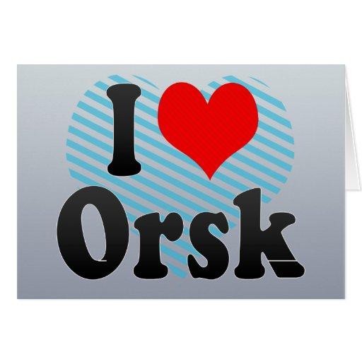 Amo Orsk, Rusia. Ya Lyublyu Orsk, Rusia Tarjeta De Felicitación