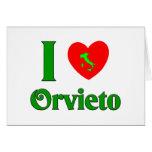 Amo Orvieto Italia Tarjeta De Felicitación
