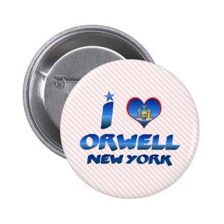 Amo Orwell Nueva York Pins
