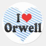 Amo Orwell Pegatinas Redondas