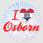 Amo Osborn, Missouri Pegatinas Redondas