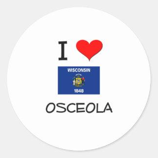 Amo Osceola Wisconsin Etiquetas Redondas