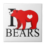 Amo osos azulejo