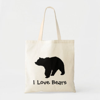 Amo osos bolsa tela barata