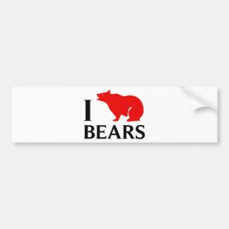 Amo osos pegatina de parachoque