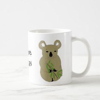 Amo osos de koala taza clásica