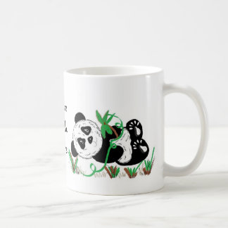 Amo osos de panda taza de café