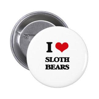 Amo osos de pereza pin