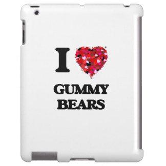 Amo osos gomosos funda para iPad