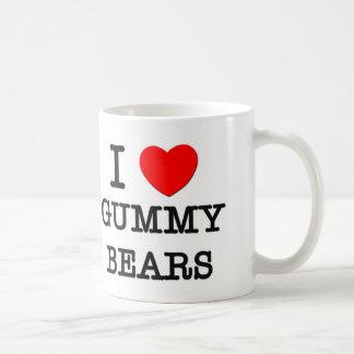 Amo osos gomosos taza básica blanca