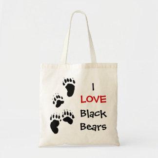 Amo osos negros bolsa tela barata