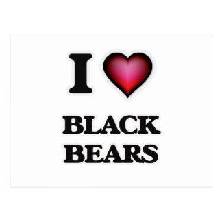 Amo osos negros tarjeta postal