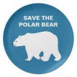 Amo osos polares - ahorre el oso polar plato de cena