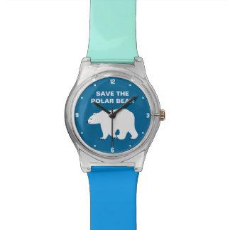 Amo osos polares - ahorre el oso polar relojes