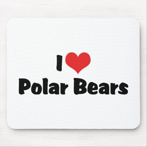 Amo osos polares alfombrilla de ratón