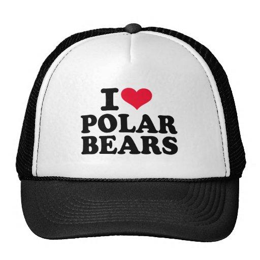 Amo osos polares gorros