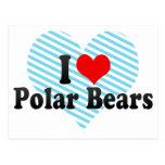 Amo osos polares postales