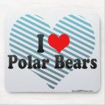 Amo osos polares tapete de raton