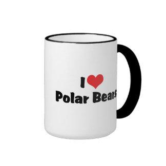 Amo osos polares taza de dos colores