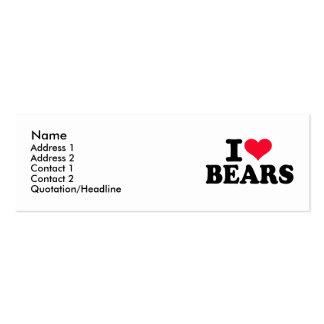 Amo osos tarjetas de visita