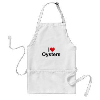 Amo ostras (del corazón) delantal