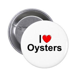 Amo ostras (del corazón) pins