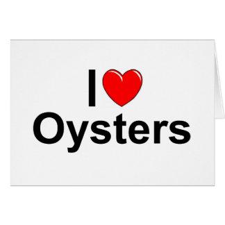 Amo ostras (del corazón) tarjeta de felicitación