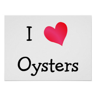 Amo ostras poster