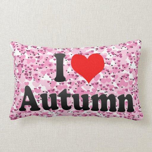 Amo otoño cojin