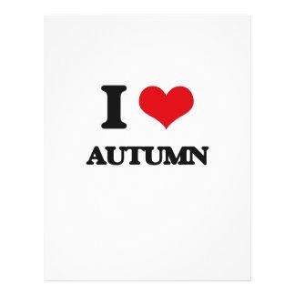 Amo otoño flyer personalizado