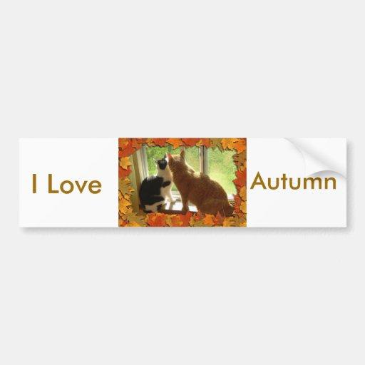 Amo otoño pegatina para auto