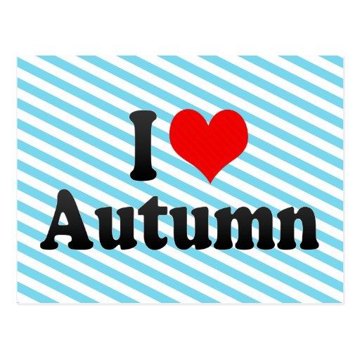Amo otoño postal