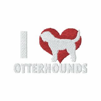 Amo Otterhounds bordé la camiseta larga de la