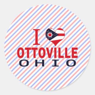 Amo Ottoville Ohio Etiquetas Redondas