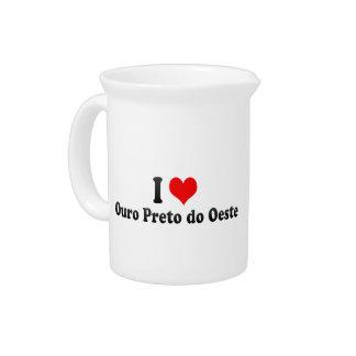 Amo Ouro Preto hago Oeste, el Brasil Jarra Para Bebida