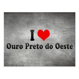 Amo Ouro Preto hago Oeste, el Brasil Tarjeta Postal