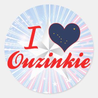 Amo Ouzinkie, Alaska Etiquetas Redondas