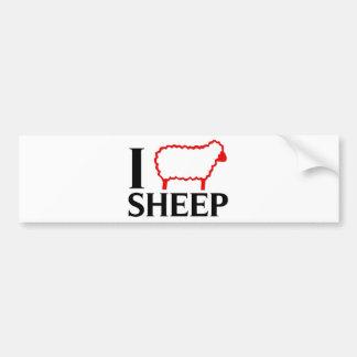 Amo ovejas etiqueta de parachoque