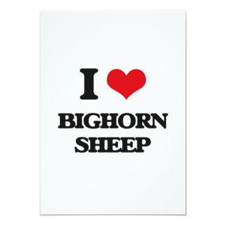 """Amo ovejas de Bighorn Invitación 5"""" X 7"""""""